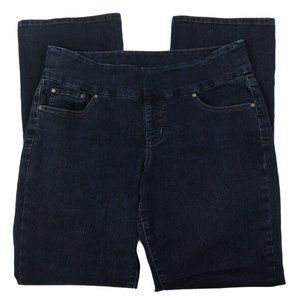 Jag Jeans Womens Bootcut Pull On Black Jeans